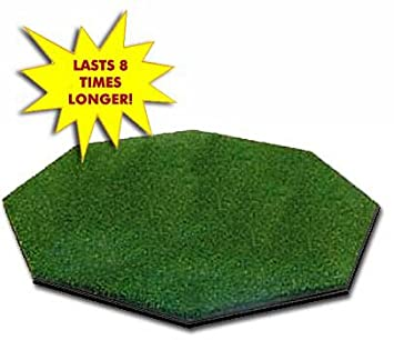 Golf Mat 5 x 5 OCTAGON Dura-Pro Plus Premium Commercial Golf Mat FREE Golf Ball Tray, FREE Balls, FREE Tees – FREE SHIPPING – 8 Year Warranty – Dura-Pro Golf Hitting Mats Make All Other Golf Mats Obsolete Family Owned And Operated Since 1997 – Dura-Pro Golf Mats are the 1 Mat in Golf Our Golf Practice Mats As Seen On The Golf Channel.