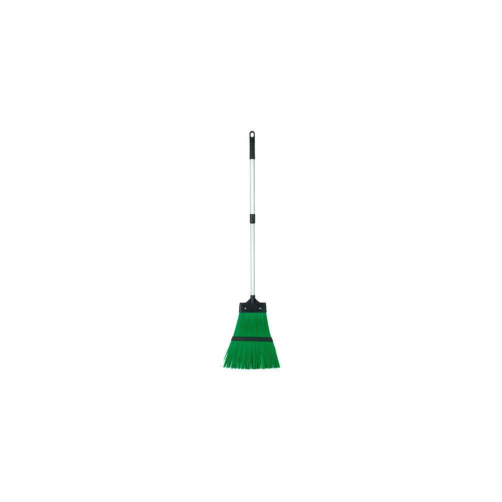 Ribiland PRBAL Scopa da Giardino, Telescopica, Alluminio, Verde/Grigio Ribimex