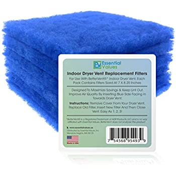 ApplianPar 12 Pack Dryer Filters Replacement For Bettervent Indoor Dryer Vent