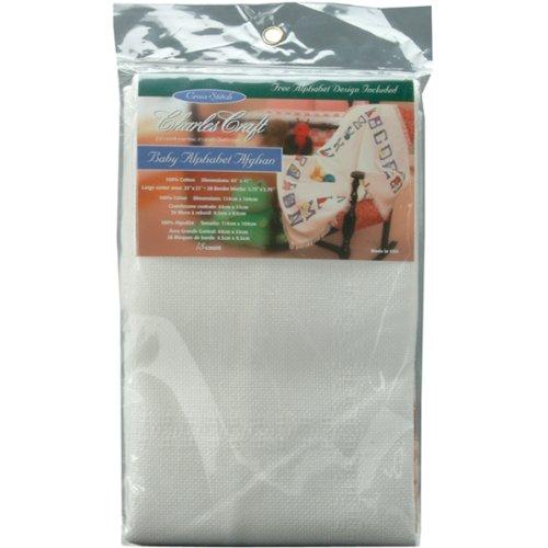 DMC AF7311-6750 45-Inch Baby Alphabet Afghan Cotton, White