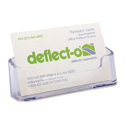 Deflect-o Desktop Business Card Holder - Plastic - 2/Pack - (Deflect O Plastic Business Card Holder)