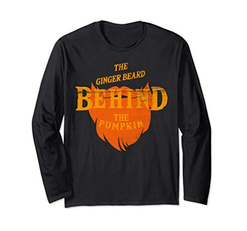 Good Halloween Costumes For Bearded Guys (THE GINGER BEARD BEHIND THE PUMPKIN HALLOWEEN GIFT Long Sleeve)