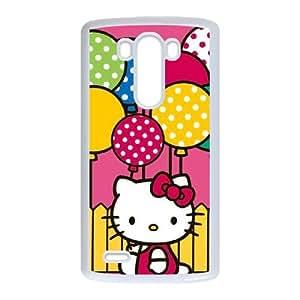 Hello Kitty Balloon Fence LG G3 Cell Phone Case White DIY present pjz003_6335866
