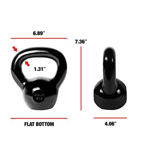 CAP Barbell SDK2-015 Enamel Coated Cast Iron Kettlebell, 15 lb, Black by CAP Barbell (Image #4)