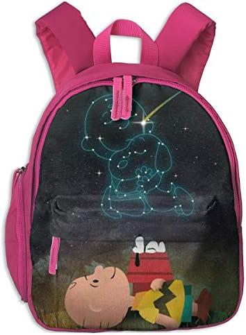 スヌーピーが星空を見ています リュックサック子供用 スクールバッグ 通園 遠足 幼稚園 可愛い キッズ ベビー バックパック 男女兼用