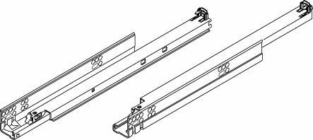 Pro Pack of 10Pcs, Tandem Plus Blumotion 563. Drawer Runner For Panel, 21'' Drawer