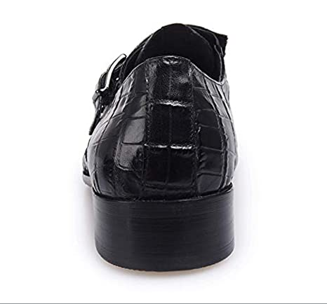 d074e9e182 SHANGWU Zapatos De Negocios Formales para Hombres Zapatos De Vestir Zapatos  Semi-Formales para Esmoquin Zapatos De Cuero para Bodas Zapatos De Cuero  para ...