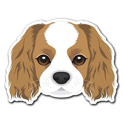 MFX Design Magnet Cavalier King Charles Spaniel - Dog Breed Decal Sticker for Car Truck Magnet car Truck Magnetic Vinyl Sticks to Any Metal surface5.5 in x 4.1 in (13.9 cm x 10.5 cm)