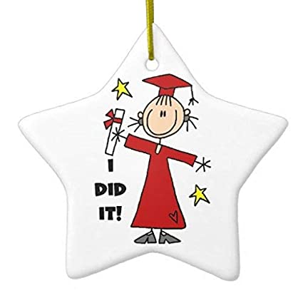 Amazoncom Lionkin8 Christmas Ornaments Red Stick Figure Girl