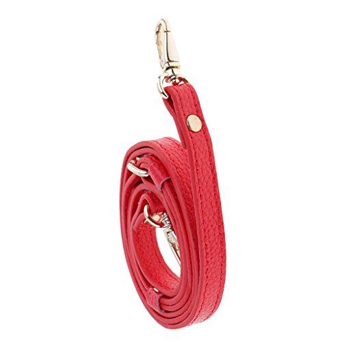 (MonkeyJack Adjustable Leather Chain Replacement Crossbody Shoulder Purse Handbag Bag Strap - Red)