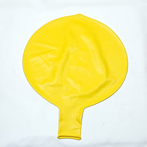 Swing Ball Party Perfect Round Latex Balloons Decoration Yellow 72 Inch Pack of (Latex Inflatable Ball)