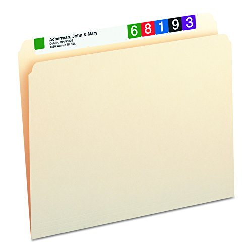 Smead File Folder, Straight-Cut Tab, Letter Size, Manila, 100 Per Box (10300)