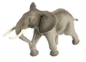 Safari Ltd Wild Safari Wildlife – African Bull Elephant – Realistic Hand Painted Toy Figurine Model – Quality Construction From Safe and BPA Free Materials – For Ages 3 and Up