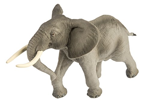 - Safari Ltd Wild Safari Wildlife – African Bull Elephant – Realistic Hand Painted Toy Figurine Model – Quality Construction From Safe and BPA Free Materials – For Ages 3 and Up