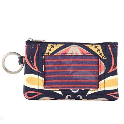 Tangier Zip Wallet for Women with Key Ring, ID Window