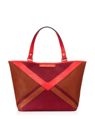 Juicy Couture Colorblock Sophia Tote Cognac Multi