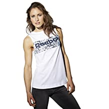 Reebok Womens Cotton Seaworn Logo Tank Top (BK2700)