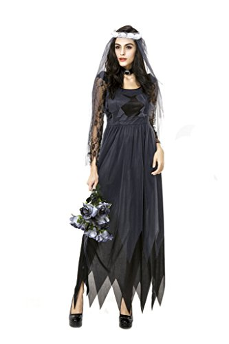 BADI NA Girl Women's Deluxe Lace Victorian Ghost