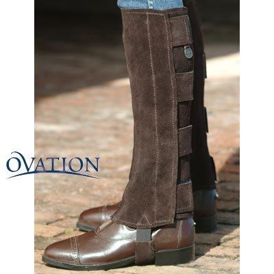 Ovation - Ladies Suede Half Chaps w/Velcro , Black , Small