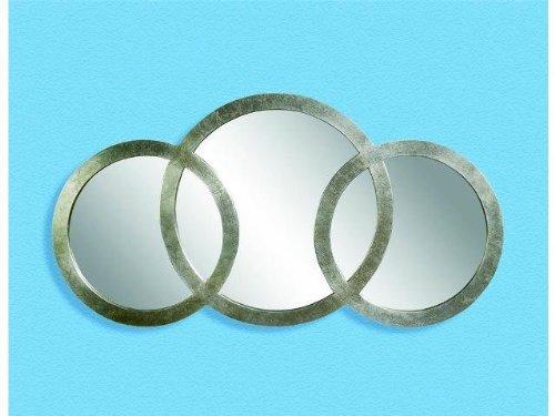 Bassett Mirror Libra 3 Ring Mirror, Silver Leaf by Bassett Mirror Company