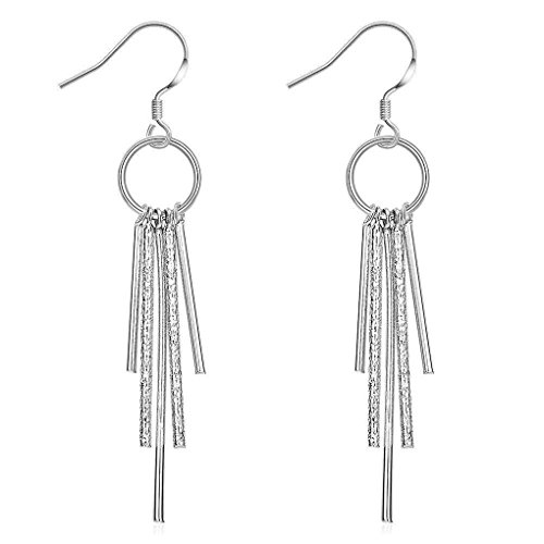 fonk: New Fashion silver plated earing Five Post drop Earring silver plated Earrings SMTE026