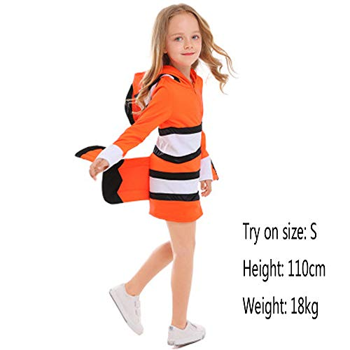 (Finding Nemo Deluxe Costume Cozy Orange Clownfish Cosume Family Dress)