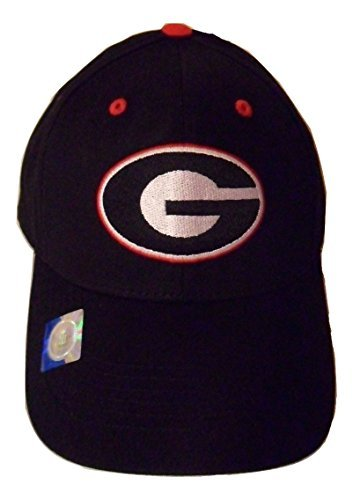 - NCAA Georgia Bulldogs Structured Adult Black Logo Cap