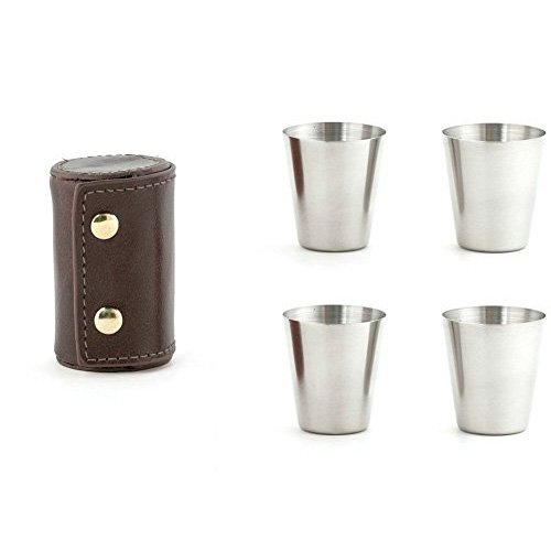 Kikkerland Metal Shot Glasses (Stainless Steel Shot Glass compare prices)