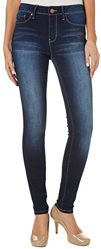 YMI Juniors Mid Rise Dark Wash Skinny Jeans 3 Denim Light Wash