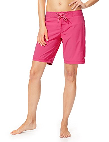 Baleaf Women's 9' Long Board Short with Built-in Liner Wild Berry Size M