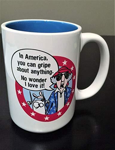 HALLMARK MAXINE Coffee Mug NEW/tag In America…Gripe…Love It Red White & -