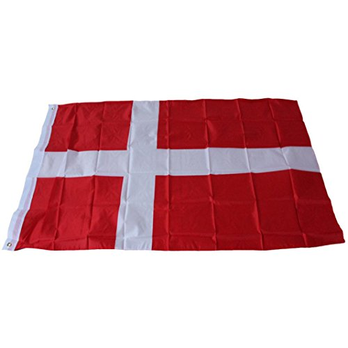 Iuhan® Fashion Danish Country Large Flag 3x5 Feet Polyester Denmark National Banner