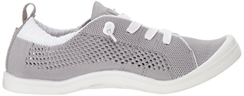 on Sneaker Roxy Slip Women's Knit Fashion Bayshore Grey wFwgqIY4
