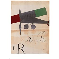 rRrR ART vintage poster BRUNO MUNARI italy 1927 24X36 airplane abstract