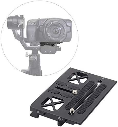 SODIAL Ronin Gimbal Mounting Offset Plate for Bmpcc Blackmagic Mount for Ronin Gimbal Quick Release Plate Accessories