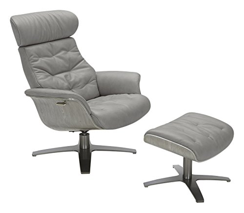 146-C Karma Grey Living Room Leather Chair ()