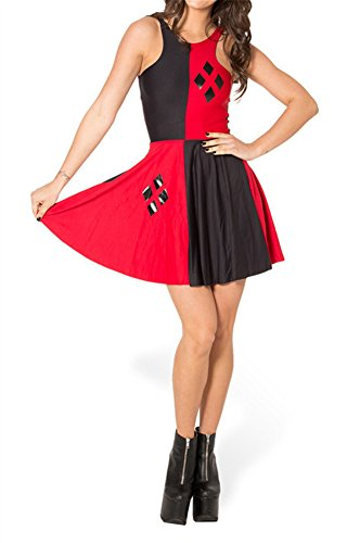 Zanuce Womens Sleeveless Floral Print Vintage Prom Dress(Harley Quinn),One Size ()