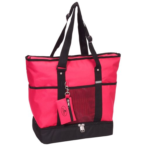 Everest Luggage Deluxe Shopping Tote, Hot Pink/Black, Hot Pink/Black, One - Women Shopping Hot