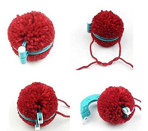 5.5 and 3.5cm Plastic Pompom Makers 9 DIY Furry Pom Poms for Decorations Garland Charms and More 7 Pom Pom Maker Kit 8 Piece with Assorted Sizes