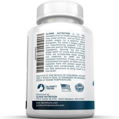 Alpine Nutrition L Arginine 1000mg Tablets NOS Nitric Oxide 120 Tablets