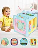 Locke Teddy Baby Kids Learning Musical Activity Cube Toy for Kids - Educational Game Play Center Musical Toys -Lights, Sounds