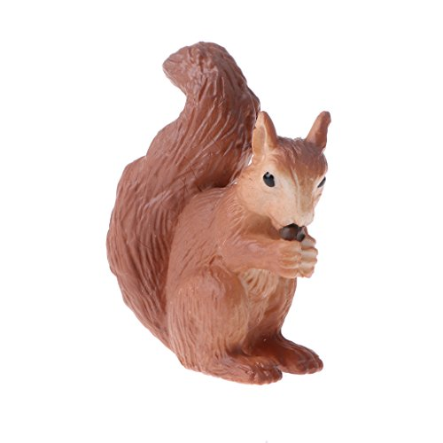 (Blesiya Plastic Wildlife Pet Figurine Model Animal Simulation Toys Learning Party Favors Squirrel)