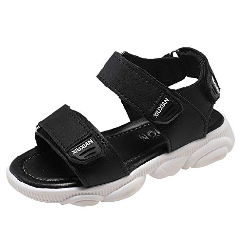 10c Dvd - Respctful✿Girl'S Boy's Sports Sandals Open Toe Athletic Beach Shoes Adjustable Flat Sandal Casual Shoes Outdoor and Indoor Black