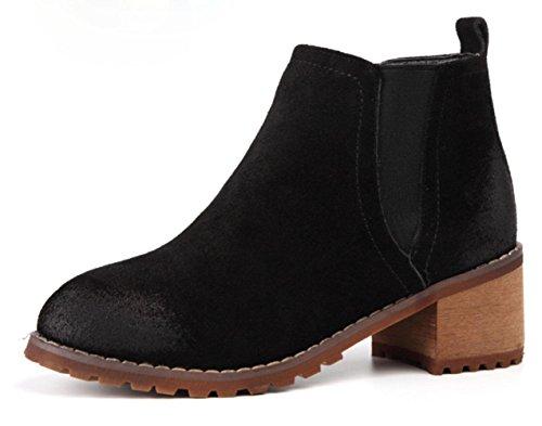 KUKI autumn and winter women boots retro Martin boots cheap boots light casual shoes Black