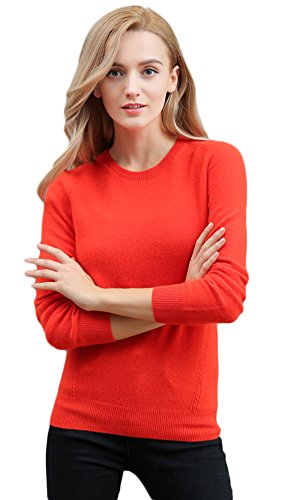 Women's Half-Collar Relaxed-Fit Short Sweater Walk Outside Orange XL by Colorful Winter