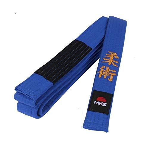 Faixa Jiu Jitsu Bordada, 300 cm, MKS, Azul