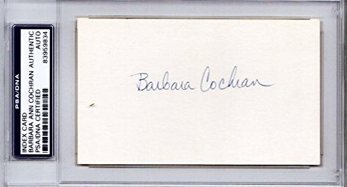 - Barbara Cochran Signed - Autographed World Cup alpine ski racer 3x5 Inch Index Card - 1972 Gold Medalist - Certificate of Authenticity (COA) - Slabbed Holder - PSA/DNA Certified