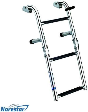Stainless Foldable Boat Ladder Folding Boarding Ladder Transom 3 Step Narrow