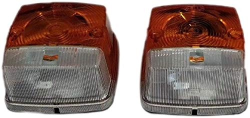 2x SQUARE FRONT INDICATOR FLASHER POSITION LAMP LIGHT TRACTOR MASSEY 2BE 003.014-251 HELLA: