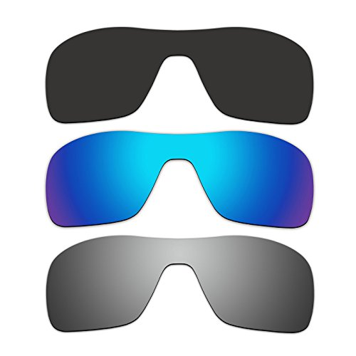 42a27cbf3e6 ACOMPATIBLE 3 Pair Replacement Polarized Lenses for Oakley Turbine Rotor  Sunglasses OO9307 Pack P4 - Buy Online in Oman.